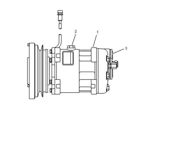 Compressor de ar condicionado para trator